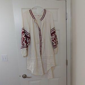 Free People long shirt/dress XS